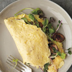 Mushroom & Microgreen Omlete From Serious Eats